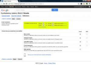 Remove any default reminders in Google Calendar