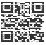 A QR Code made of unicode characters